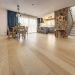 podłoga drewniana panele drewniane jesion bialy