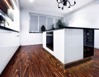 Podłoga Palisander Venifloor - realizacja nowoczesna kuchnia