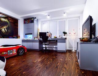 Palisander Santos Venifloor - podłoga położona w sypialni dziecka