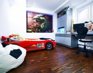 Palisander Santos Modyfikowany Venifloor podłoga - realizacja w sypialni dziecięcej