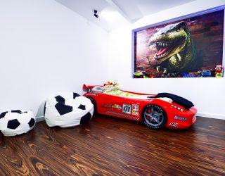 Palisander Santos Modyfikowany podłoga Venifloor w sypialni dziecięcej