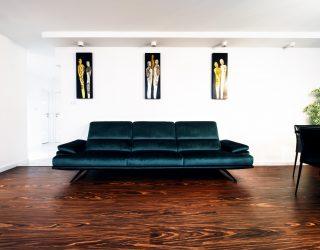 Podłoga Palisander Santos Modyfikowany Venifloor w luksusowym salonie