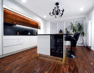 Podłoga drewniana Palisander Santos Modyfikowany Venifloor - realizacja